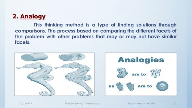 """problem solving case study method """"the case study method offers opportunities for technical personnel, professional practitioners, managers, and learners of all sorts to acquire higher-level problem-solving and decision-making skills."""