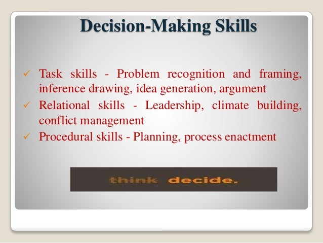 how to develop decision making skills