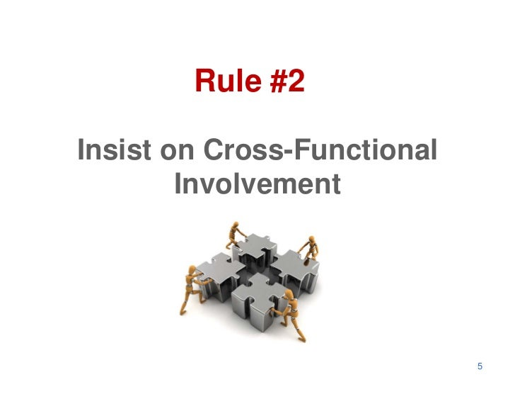 Rule #2Insist on Cross-Functional        Involvement                             5