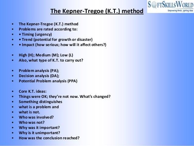 kepner tregoe problem solving decision making ppt