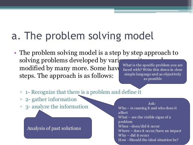 general motors and the six steps in problem solving and decision making 7 problem solving steps is a quick decision making problem solving the real starting point then for any problem solving process is to find the right problem.