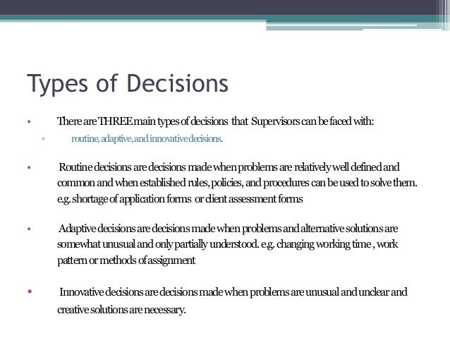 problem solving and decision making examples