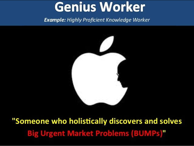 """Example:  Highly  Proficient  Knowledge  Worker   """"Someone  who  holis-cally  discovers  ..."""