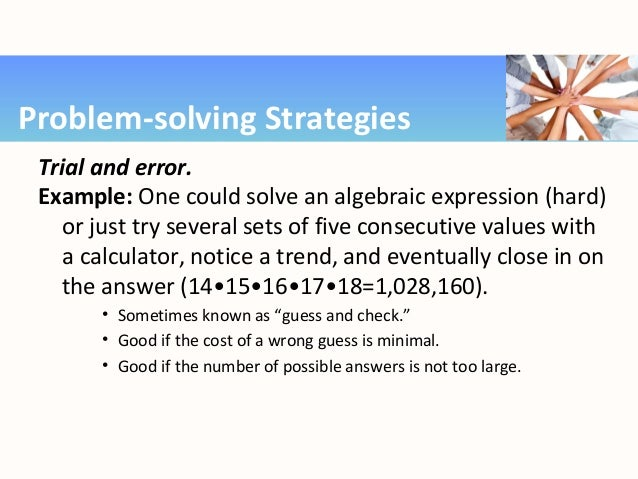 trial and error problem solving