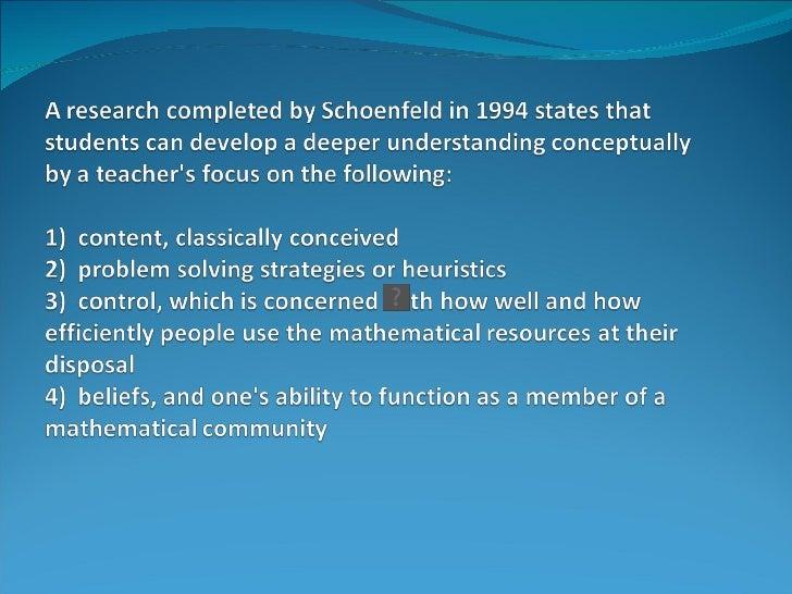 Problem Solving for Conceptual Understanding Slide 3