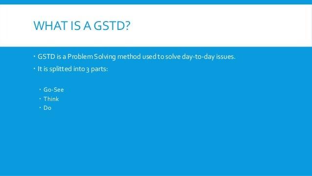 problem solving gstd