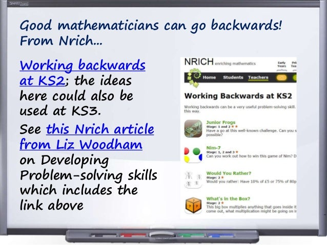 nrich problem solving ks2