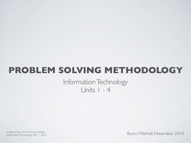 problem solving methodology information technology