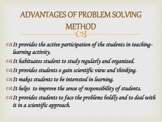 the problem solving method