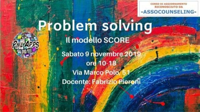 Problem solving nei sistemi complessi