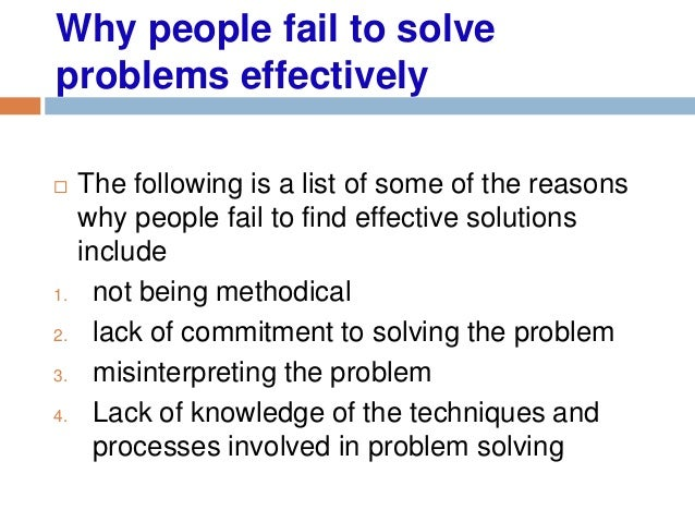 people with good problem solving skills
