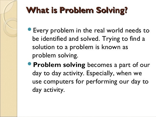 the problem is solved