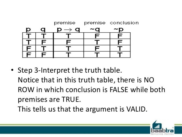problem solving using truth table