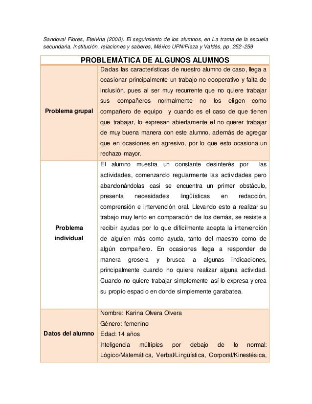 Sandoval Flores, Etelvina (2000). El seguimiento de los alumnos, en La trama de la escuela secundaria. Institución, relaci...