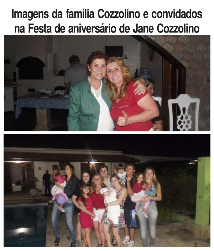 Imagens da família Cozzolino e convidados na Festa de aniversário de Jane Cozzolino