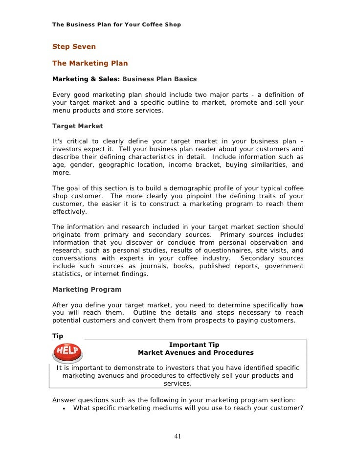 Pro Bp Coffee Shop Business Plan