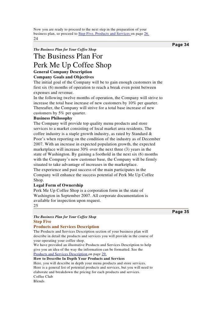 Pro Bp Coffee Shop Business Plan Doc
