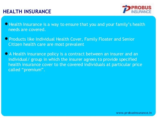 Health insurance- insurance products-individual and family ...