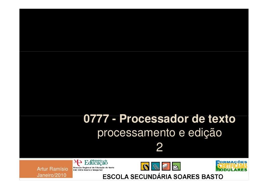0777 - P                        Processador de texto                                d d t t                   p           ...