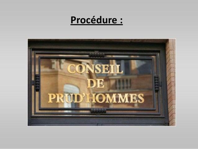 Procédure :