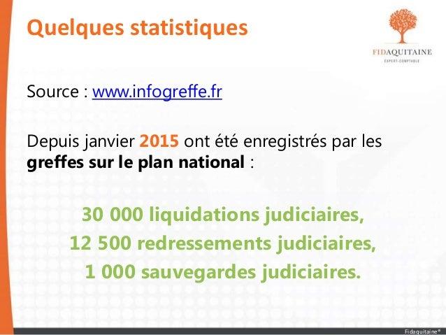 Source : www.infogreffe.fr Depuis janvier 2015 ont été enregistrés par les greffes sur le plan national : 30 000 liquidati...