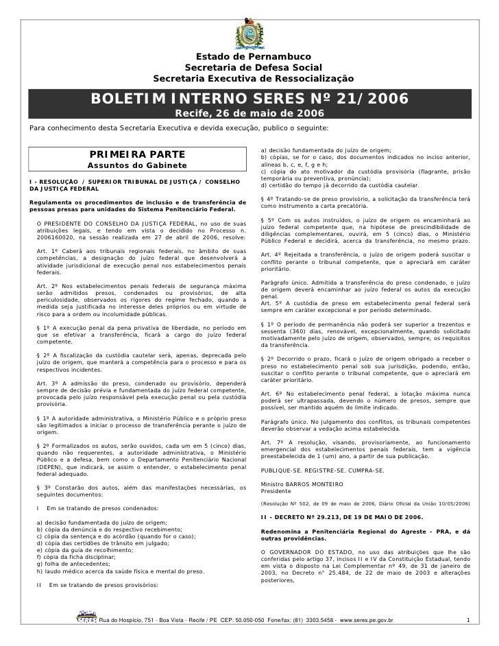 Estado de Pernambuco                                                Secretaria de Defesa Social                           ...
