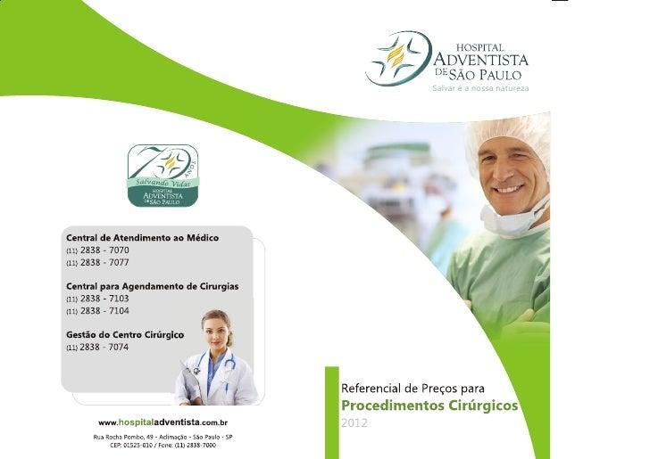 Referencia de Preços para Procedimentos Cirúrgicos - HASP