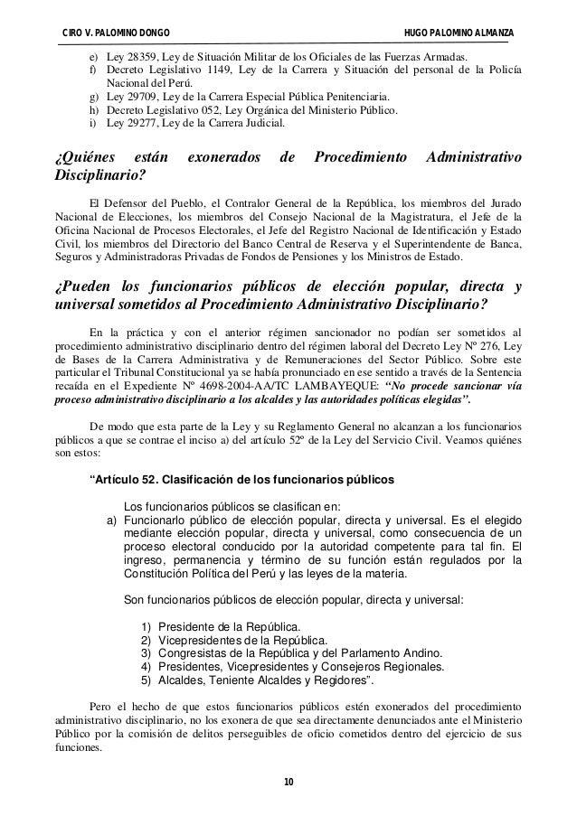 CIRO V. PALOMINO DONGO HUGO PALOMINO ALMANZA  e) Ley 28359, Ley de Situación Militar de los Oficiales de las Fuerzas Armad...