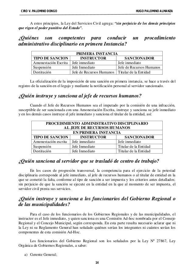"""CIRO V. PALOMINO DONGO HUGO PALOMINO ALMANZA  A estos principios, la Ley del Servicios Civil agrega: """"sin perjuicio de los..."""