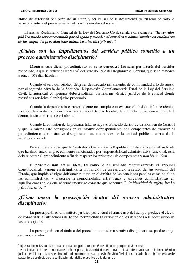 CIRO V. PALOMINO DONGO HUGO PALOMINO ALMANZA  abuso de autoridad por parte de su autor, y ser causal de la declaración de ...