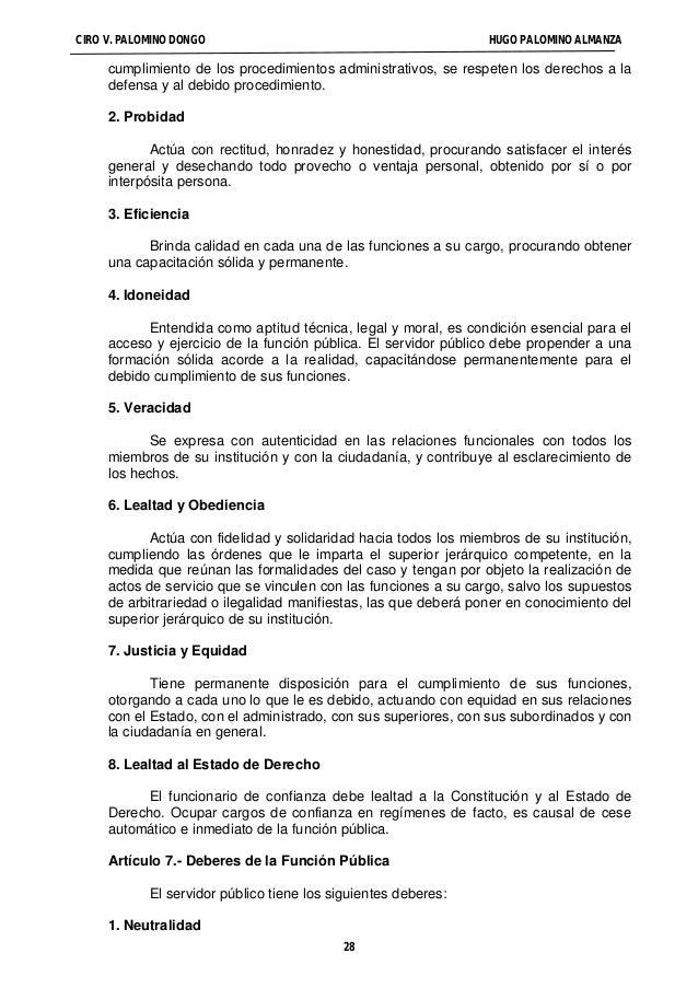 EL PROCEDIMIENTO ADMINISTRATIVO DISCIPLINARIO EN LA LEY DEL SERVICIO CIVIL