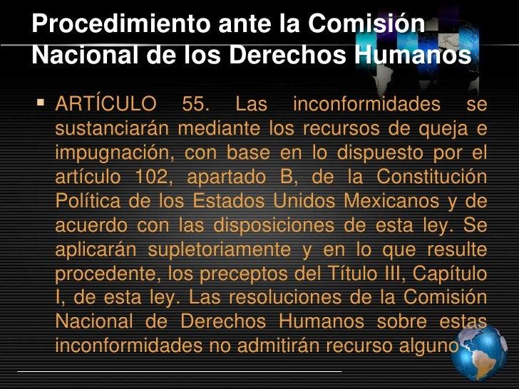 Recomendaciones  Comisión Nacional de los Derechos