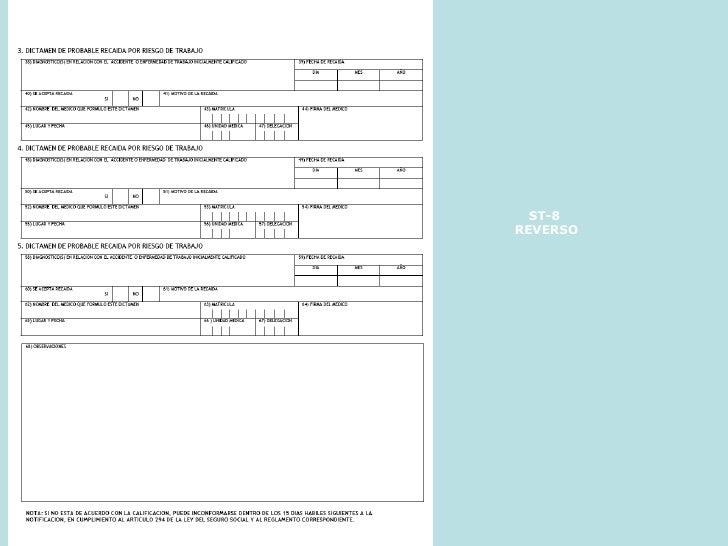 Formatos Imss St 3 Dof Diario Oficial De La Federaci 243