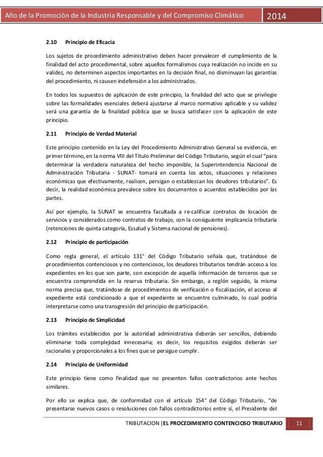 Año de la Promoción de la Industria Responsable y del Compromiso Climático  2.10  2014  Principio de Eficacia  Los sujetos...