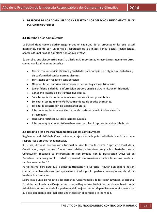 Año de la Promoción de la Industria Responsable y del Compromiso Climático  2014  3. DERECHOS DE LOS ADMINISTRADOS Y RESPE...