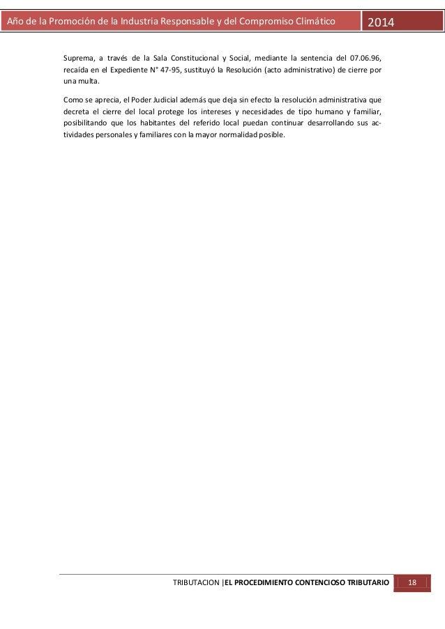 Año de la Promoción de la Industria Responsable y del Compromiso Climático  2014  Suprema, a través de la Sala Constitucio...