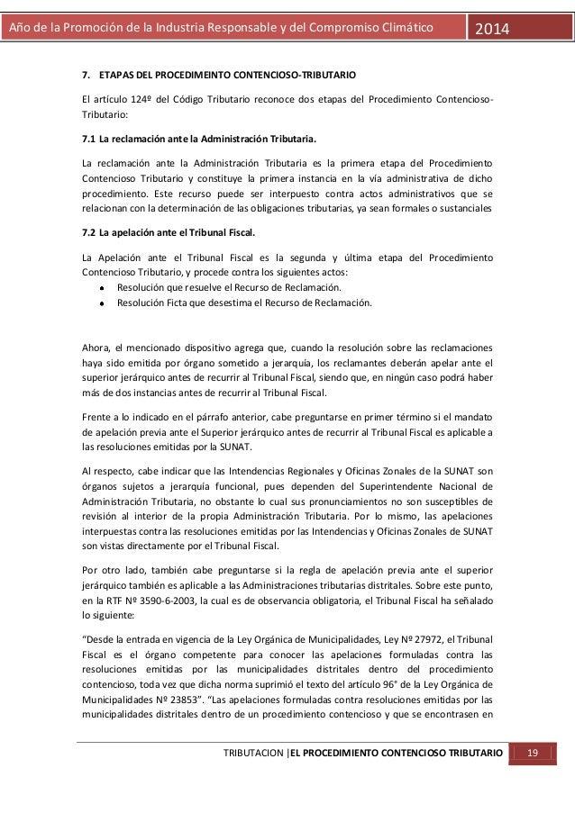 Año de la Promoción de la Industria Responsable y del Compromiso Climático  2014  7. ETAPAS DEL PROCEDIMEINTO CONTENCIOSO-...