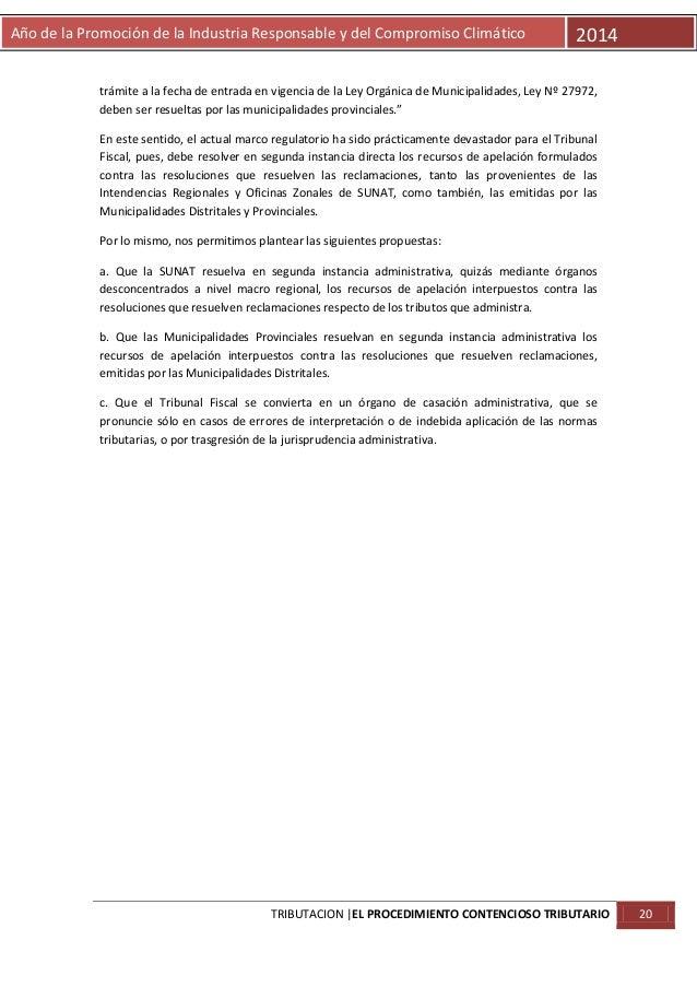 Año de la Promoción de la Industria Responsable y del Compromiso Climático  2014  trámite a la fecha de entrada en vigenci...