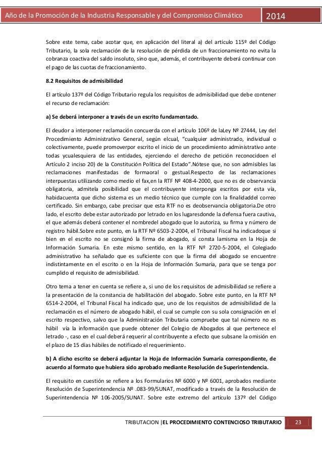 Año de la Promoción de la Industria Responsable y del Compromiso Climático  2014  Sobre este tema, cabe acotar que, en apl...