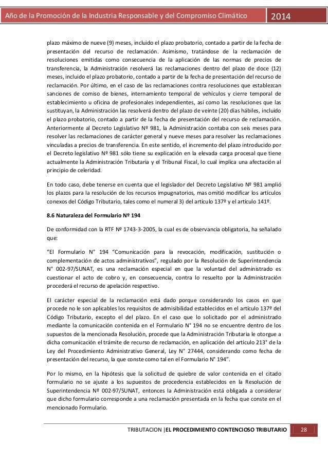 Año de la Promoción de la Industria Responsable y del Compromiso Climático  2014  plazo máximo de nueve (9) meses, incluid...