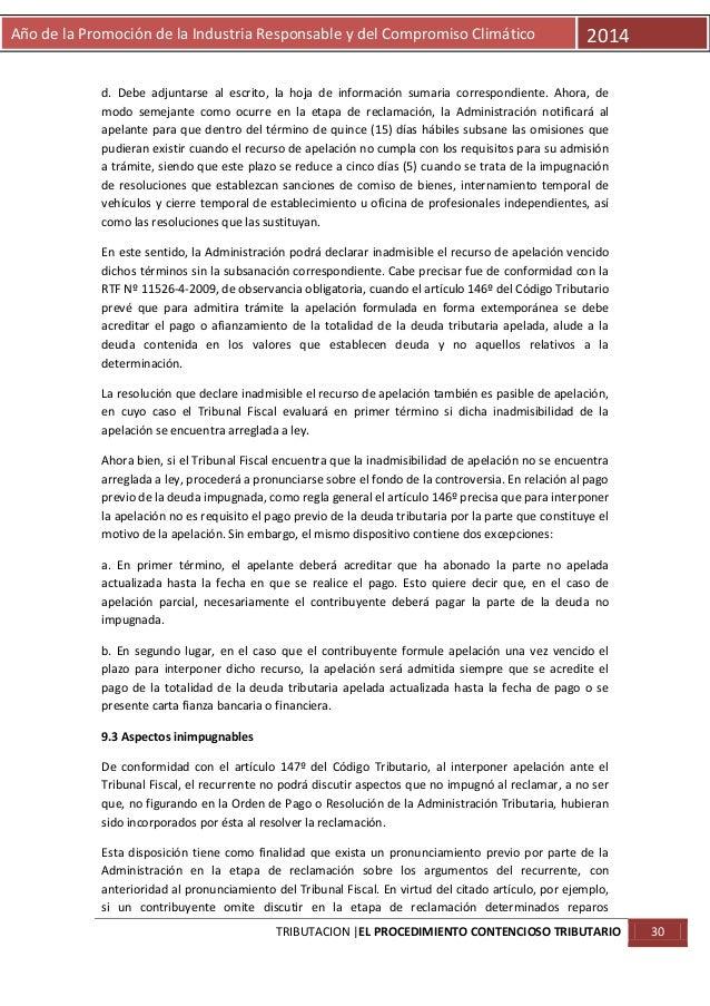 Año de la Promoción de la Industria Responsable y del Compromiso Climático  2014  d. Debe adjuntarse al escrito, la hoja d...