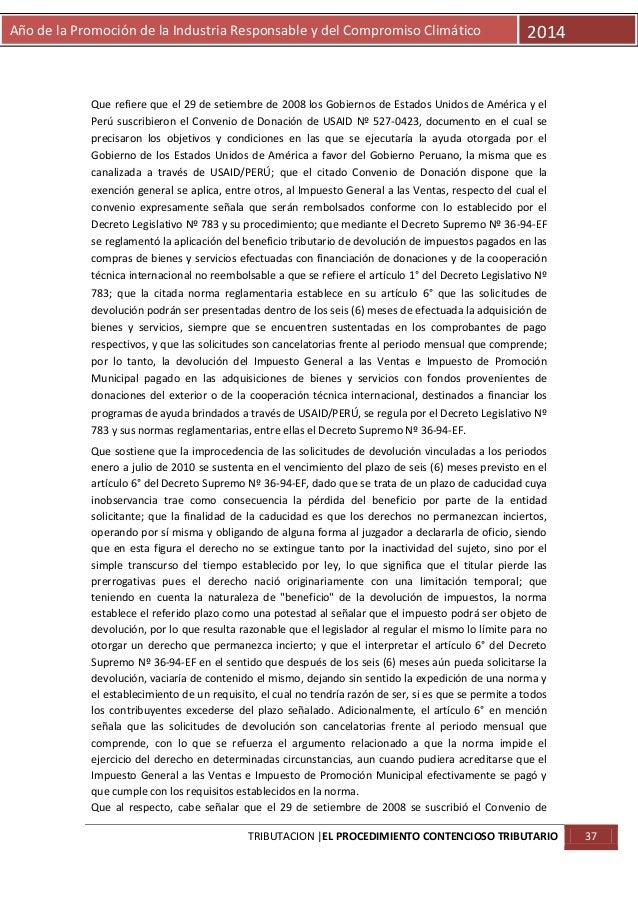 Año de la Promoción de la Industria Responsable y del Compromiso Climático  2014  Que refiere que el 29 de setiembre de 20...