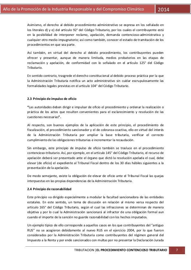 Año de la Promoción de la Industria Responsable y del Compromiso Climático  2014  Asimismo, el derecho al debido procedimi...