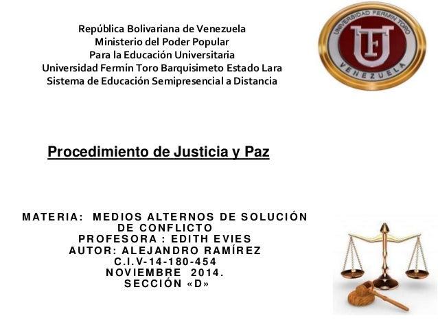 República Bolivariana de Venezuela  Ministerio del Poder Popular  Para la Educación Universitaria  Universidad Fermín Toro...