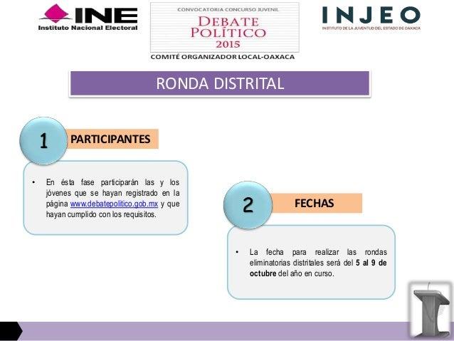 JURADO CATEGORIAS • Por cada Distrito Electoral Uninominal se elegirá a una o un joven por cada una de las categorías:  C...