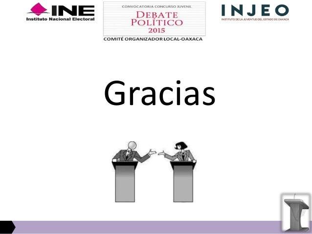 Concurso de Debate Juvenil 2015: Eliminatorias distritales en Oaxaca
