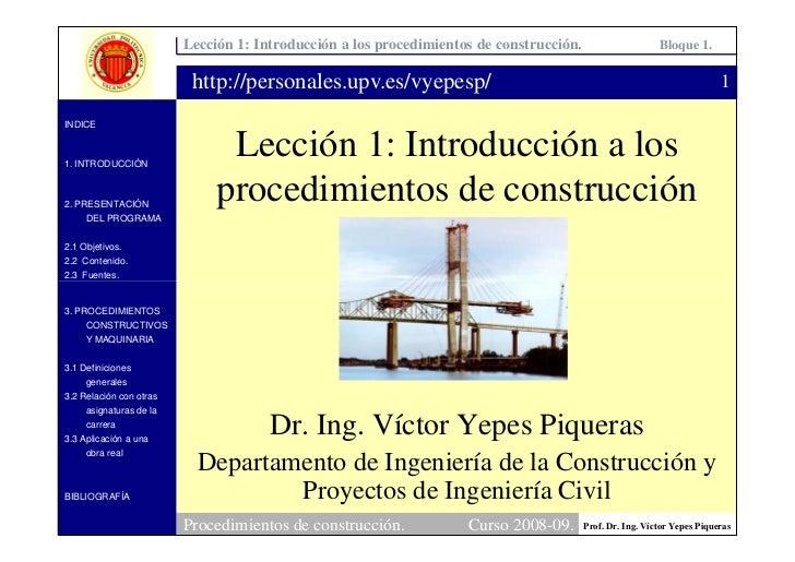 Lección 1: Introducción a los procedimientos de construcción.                     Bloque 1.                            htt...