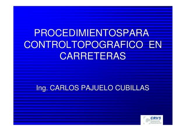 ProcedimientosTopografía carlospajuelo@gmail.com