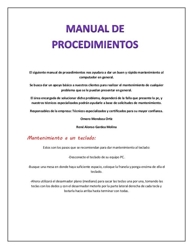 Manual de procedimientos for Manual de procedimientos de cocina en un restaurante