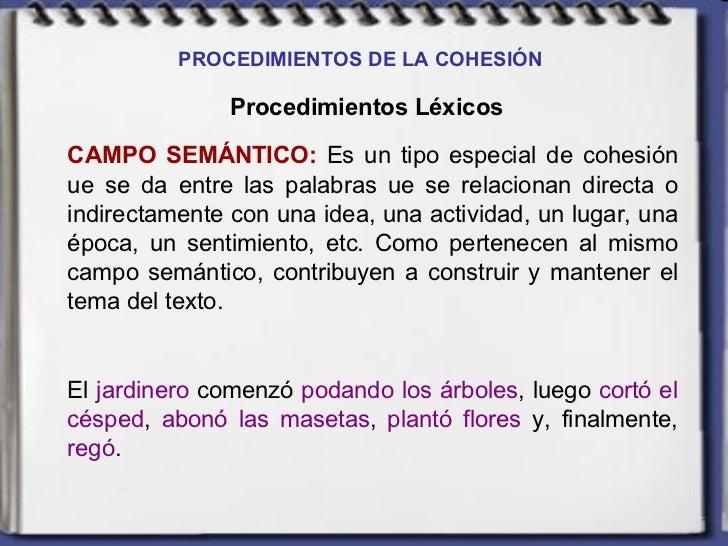 Procedimientos de cohesi n for Jardinero definicion